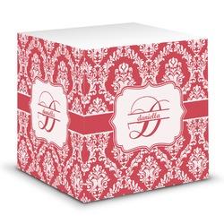 Damask Sticky Note Cube (Personalized)