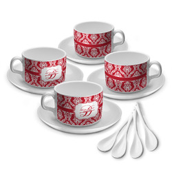 Damask Tea Cup - Set of 4 (Personalized)