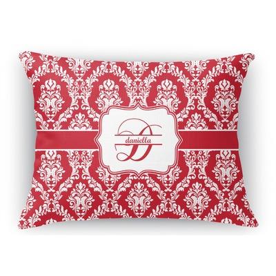 Damask Rectangular Throw Pillow Case (Personalized)