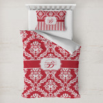 Damask Toddler Bedding w/ Name and Initial