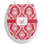 Damask Toilet Seat Decal (Personalized)