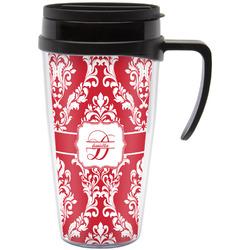 Damask Travel Mug with Handle (Personalized)