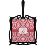 Damask Trivet with Handle (Personalized)