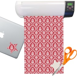 Damask Sticker Vinyl Sheet (Permanent)