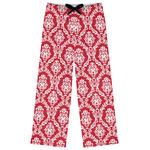 Damask Womens Pajama Pants (Personalized)