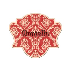Damask Genuine Maple or Cherry Wood Sticker (Personalized)