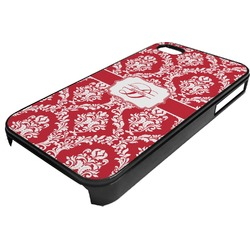 Damask Plastic 4/4S iPhone Case (Personalized)