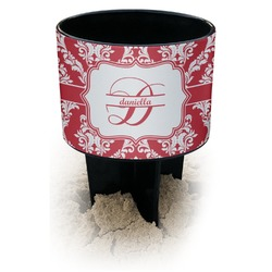 Damask Black Beach Spiker Drink Holder (Personalized)