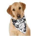 Toile Dog Bandana Scarf w/ Initial