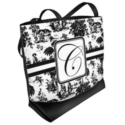 Toile Beach Tote Bag (Personalized)