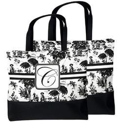 Toile Beach Tote Bag (Personalized)