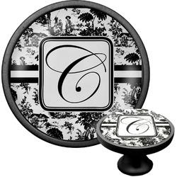 Toile Cabinet Knob (Black) (Personalized)