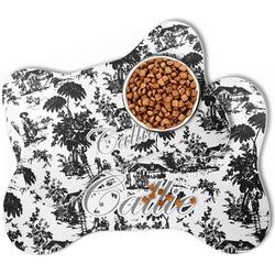 Toile Bone Shaped Dog Food Mat (Personalized)