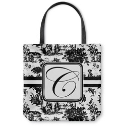 "Toile Canvas Tote Bag - Small - 13""x13"" (Personalized)"