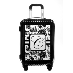 Toile Carry On Hard Shell Suitcase (Personalized)