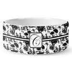 Toile Ceramic Dog Bowl (Personalized)