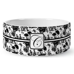 Toile Ceramic Dog Bowl (Personalized)