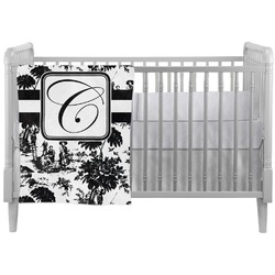 Toile Crib Comforter / Quilt (Personalized)
