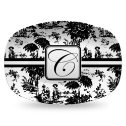 Toile Plastic Platter - Microwave & Oven Safe Composite Polymer (Personalized)
