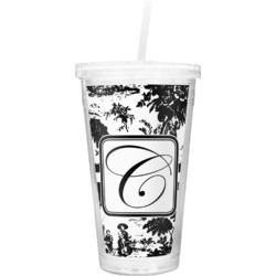 Toile Double Wall Tumbler with Straw (Personalized)