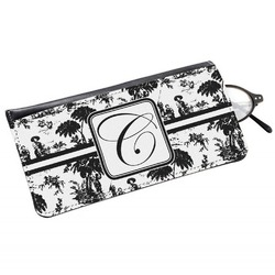 Toile Genuine Leather Eyeglass Case (Personalized)