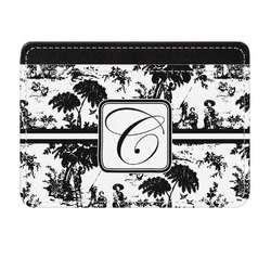 Toile Genuine Leather Front Pocket Wallet (Personalized)