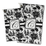 Toile Golf Towel - Full Print w/ Initial