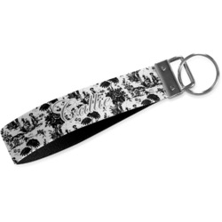 Toile Webbing Keychain Fob - Small (Personalized)