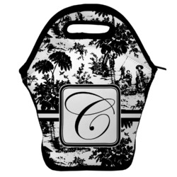 Toile Lunch Bag w/ Initial