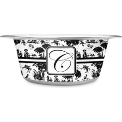 Toile Stainless Steel Dog Bowl (Personalized)