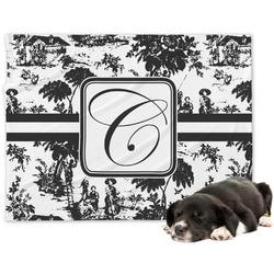 Toile Minky Dog Blanket (Personalized)