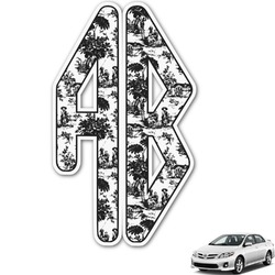 Toile Monogram Car Decal (Personalized)
