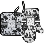 Toile Oven Mitt & Pot Holder (Personalized)