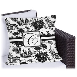"""Toile Outdoor Pillow - 18"""" (Personalized)"""