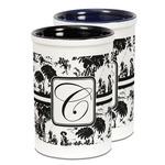 Toile Ceramic Pencil Holder - Large