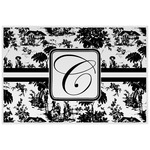 Toile Laminated Placemat w/ Initial