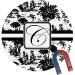 Toile Round Fridge Magnet (Personalized)