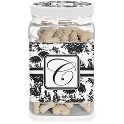 Toile Dog Treat Jar (Personalized)