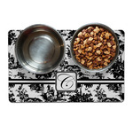 Toile Dog Food Mat (Personalized)