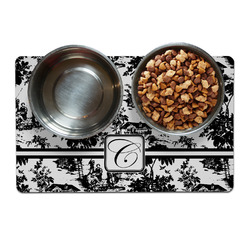Toile Pet Bowl Mat (Personalized)