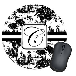 Toile Round Mouse Pad (Personalized)