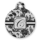 Toile Round Pet Tag (Personalized)