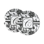 Toile Sandstone Car Coasters (Personalized)