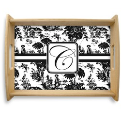 Toile Natural Wooden Tray - Large (Personalized)