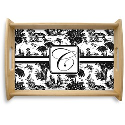 Toile Natural Wooden Tray (Personalized)