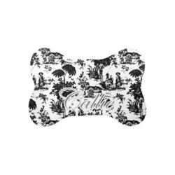 Toile Bone Shaped Dog Food Mat (Small) (Personalized)