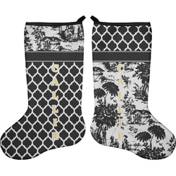 Toile Holiday Stocking - Double-Sided - Neoprene (Personalized)
