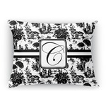 Toile Rectangular Throw Pillow (Personalized)