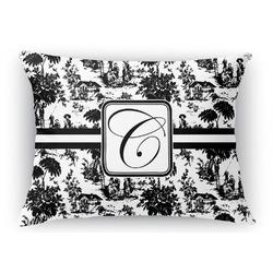 Toile Rectangular Throw Pillow Case (Personalized)