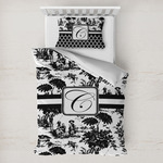 Toile Toddler Bedding w/ Initial